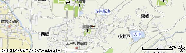 愛知県蒲郡市五井町周辺の地図