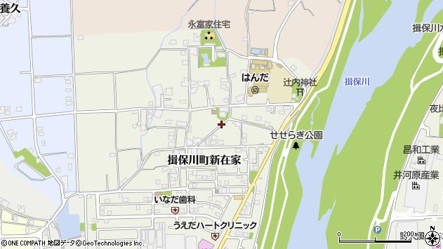 〒671-1611 兵庫県たつの市揖保川町新在家の地図