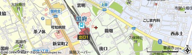 愛知県豊川市久保町(葉善寺)周辺の地図