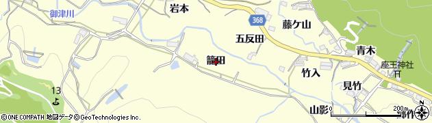 愛知県豊川市御津町金野(籠田)周辺の地図