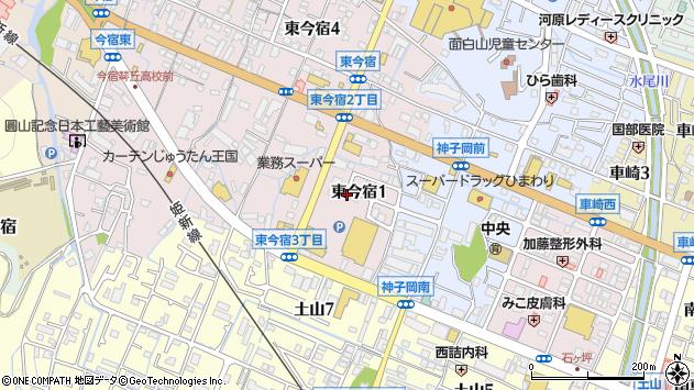 〒670-0056 兵庫県姫路市東今宿の地図