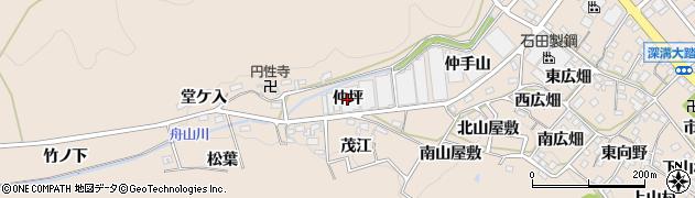 愛知県幸田町(額田郡)深溝(仲坪)周辺の地図