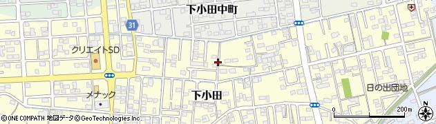 静岡県焼津市下小田周辺の地図
