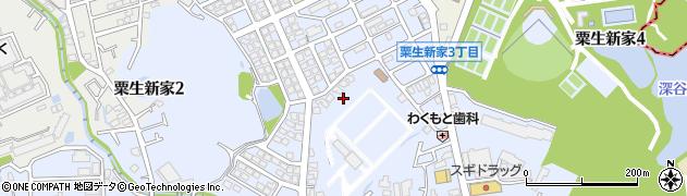 大阪府箕面市粟生新家周辺の地図