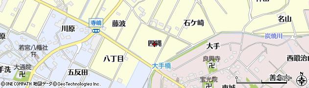 愛知県西尾市吉良町瀬戸(四縄)周辺の地図