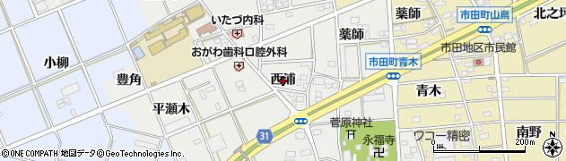 愛知県豊川市野口町(西浦)周辺の地図
