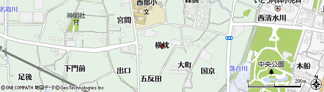 愛知県蒲郡市神ノ郷町(横枕)周辺の地図
