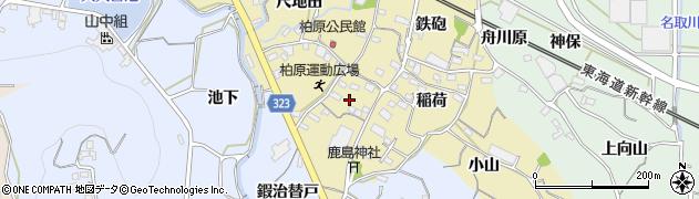 愛知県蒲郡市柏原町(加治替戸)周辺の地図
