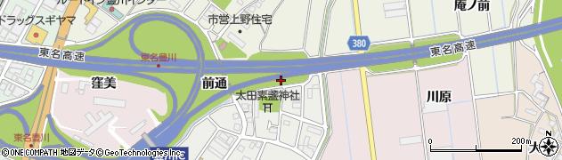 愛知県豊川市麻生田町(為京)周辺の地図