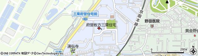 府営牧野西住宅周辺の地図