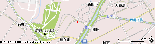 愛知県豊橋市賀茂町(棒ケ池)周辺の地図