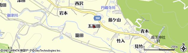 愛知県豊川市御津町金野(五反田)周辺の地図