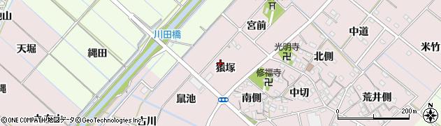 愛知県西尾市針曽根町(猿塚)周辺の地図