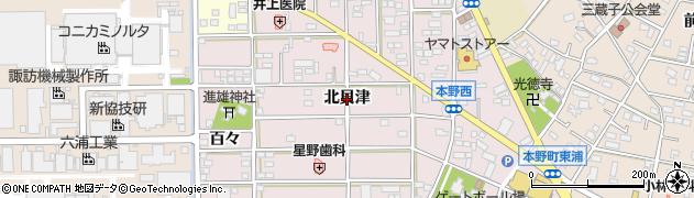 愛知県豊川市本野町(北貝津)周辺の地図