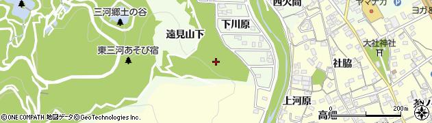 愛知県豊川市御油町(大下河原)周辺の地図