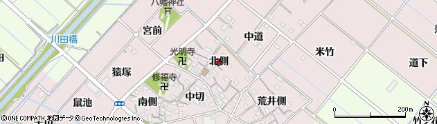 愛知県西尾市針曽根町(北側)周辺の地図