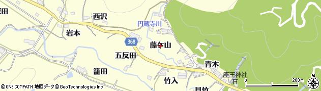愛知県豊川市御津町金野(藤ケ山)周辺の地図