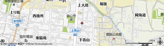 愛知県蒲郡市水竹町(下大塔)周辺の地図