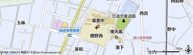 愛知県武豊町(知多郡)東大高(熊野西)周辺の地図