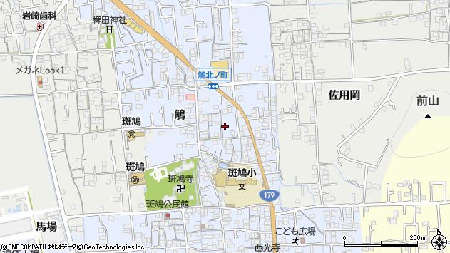〒671-1561 兵庫県揖保郡太子町鵤の地図