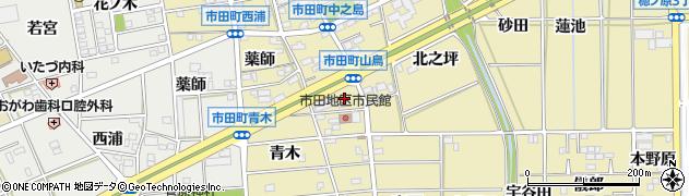 愛知県豊川市市田町(山鳥)周辺の地図