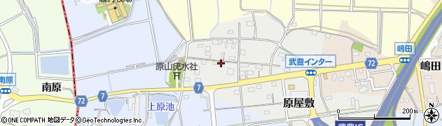 愛知県武豊町(知多郡)原屋敷周辺の地図