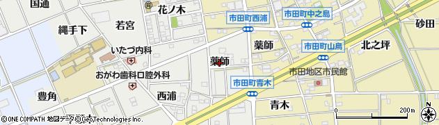 愛知県豊川市野口町(薬師)周辺の地図