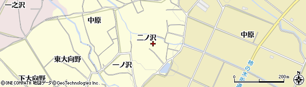 愛知県豊橋市石巻平野町(二ノ沢)周辺の地図