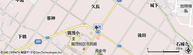 愛知県豊橋市賀茂町(久長)周辺の地図
