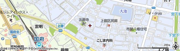 愛知県豊川市八幡町(上宿)周辺の地図