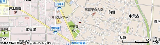 愛知県豊川市三蔵子町(野添)周辺の地図