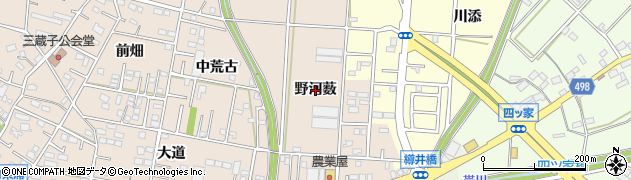 愛知県豊川市三蔵子町(野河薮)周辺の地図