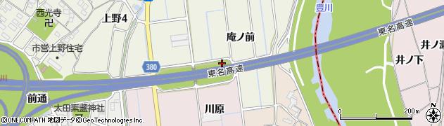 愛知県豊川市橋尾町(川原田)周辺の地図