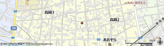 静岡県藤枝市高岡周辺の地図