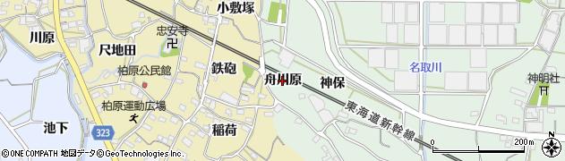 愛知県蒲郡市神ノ郷町(舟川原)周辺の地図