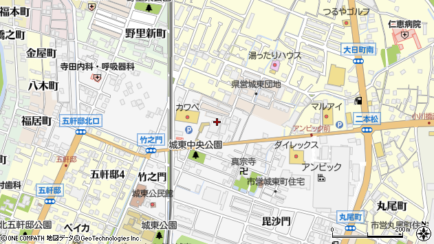 〒670-0841 兵庫県姫路市城東町の地図