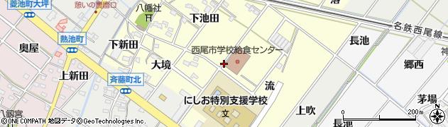 愛知県西尾市須脇町周辺の地図