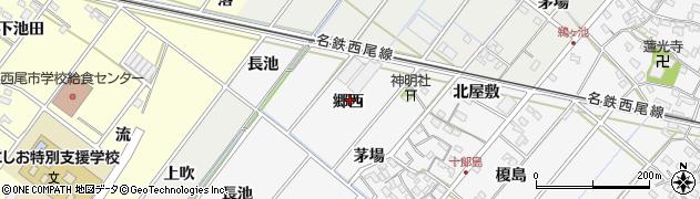 愛知県西尾市十郎島町周辺の地図
