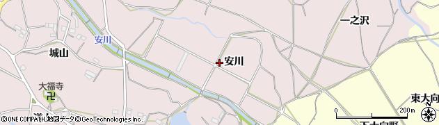 愛知県豊橋市石巻西川町(安川)周辺の地図