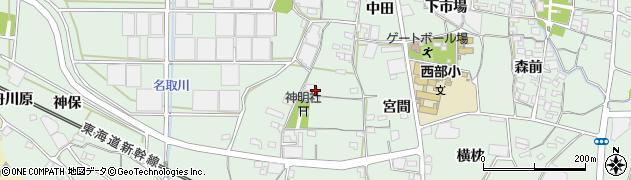 愛知県蒲郡市神ノ郷町(御開塔)周辺の地図