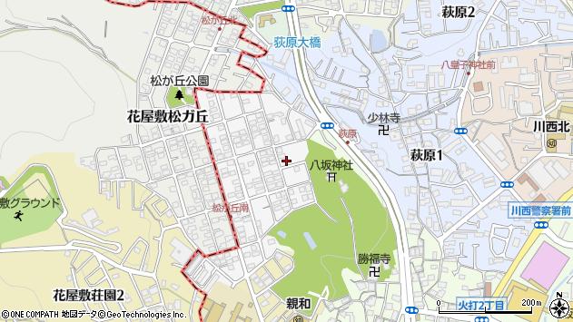 〒666-0037 兵庫県川西市松が丘町の地図