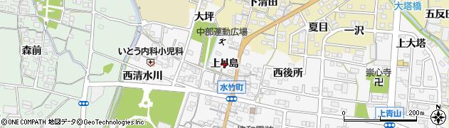 愛知県蒲郡市水竹町(上リ島)周辺の地図