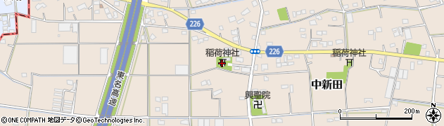 中新田稲荷神社周辺の地図