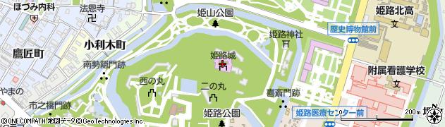 姫路城周辺の地図