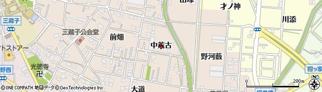 愛知県豊川市三蔵子町(中荒古)周辺の地図