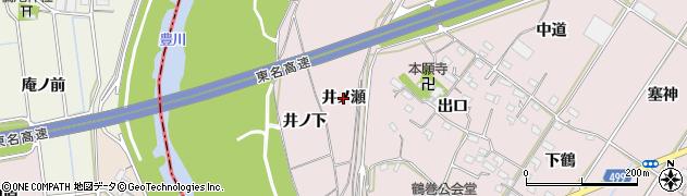 愛知県豊橋市賀茂町(井ノ瀬)周辺の地図