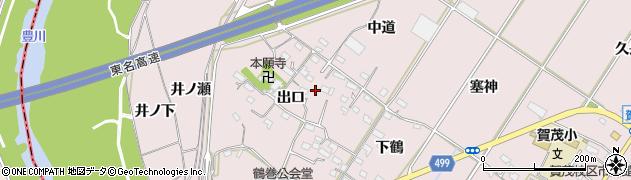 愛知県豊橋市賀茂町(出口)周辺の地図