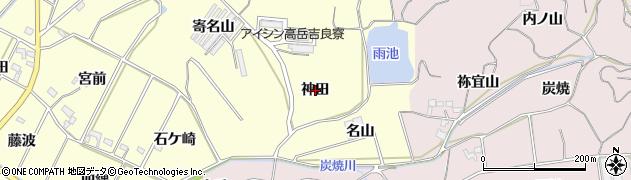 愛知県西尾市吉良町瀬戸(神田)周辺の地図