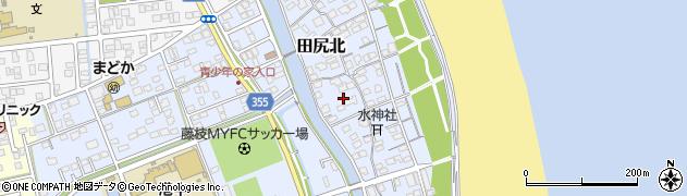 静岡県焼津市田尻北周辺の地図