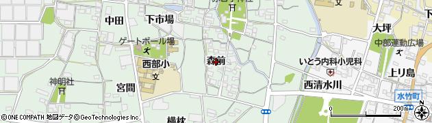 愛知県蒲郡市神ノ郷町(森前)周辺の地図